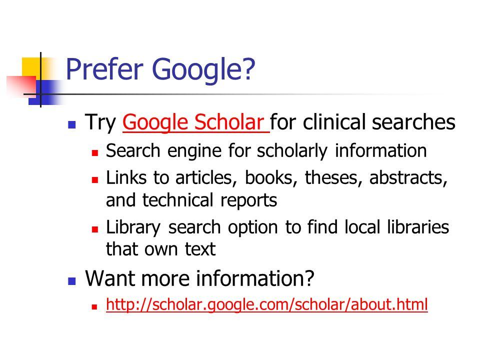 Prefer Google.