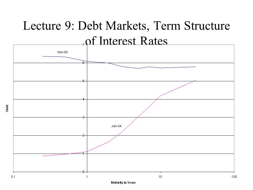 Lecture 9: Debt Markets, Term Structure of Interest Rates