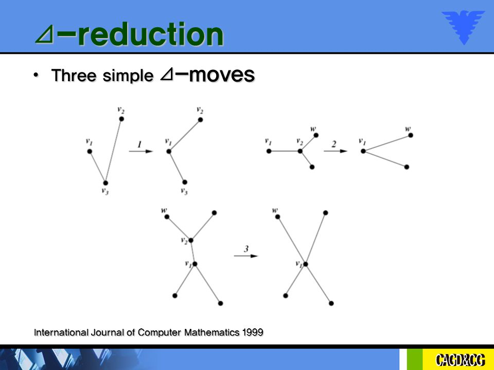 ⊿ -reduction Three simple ⊿ -moves Three simple ⊿ -moves International Journal of Computer Mathematics 1999
