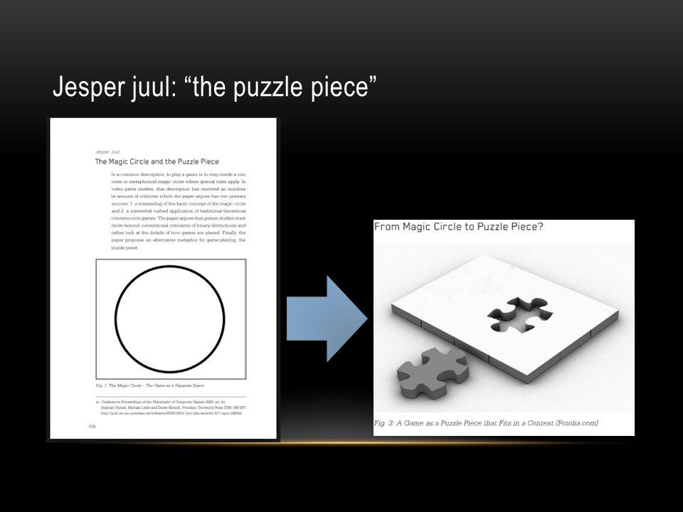 Jesper juul: the puzzle piece