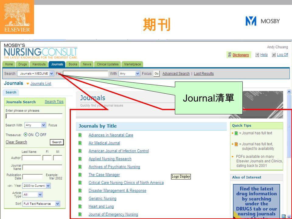 19 期刊 Journal 清單