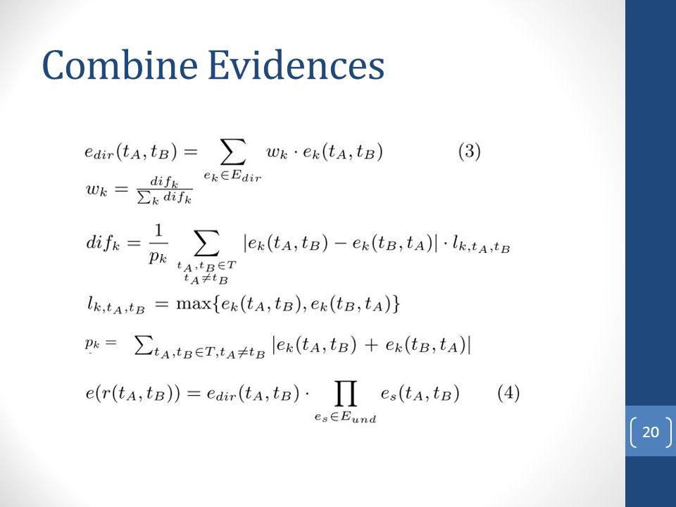 Combine Evidences 20