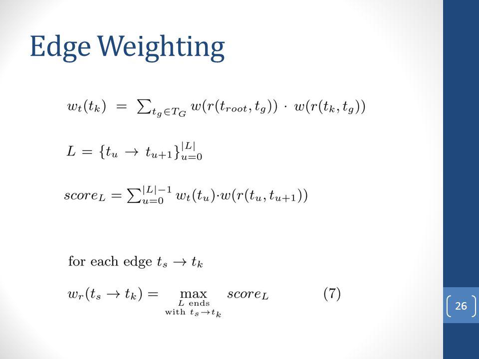 Edge Weighting 26
