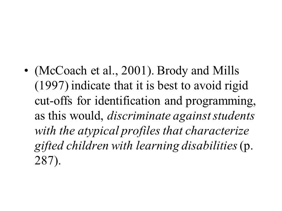 (McCoach et al., 2001).