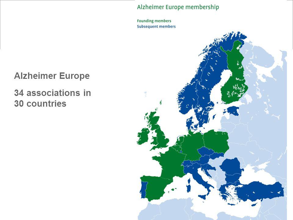 2 Alzheimer Europe 34 associations in 30 countries