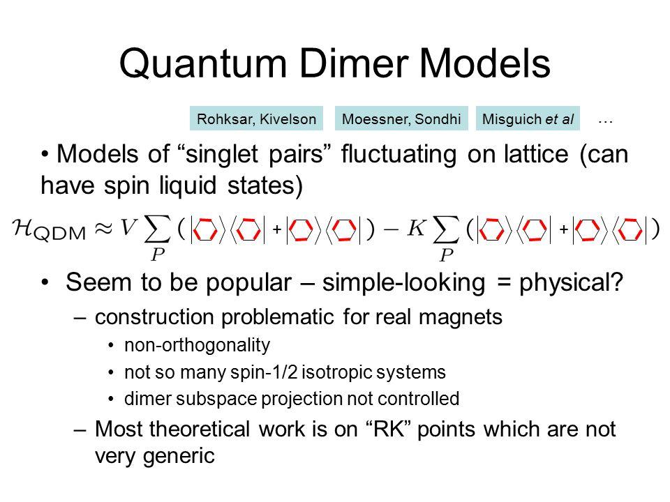 Other models of exotic phases Rotor boson models Pyrochlore antiferromagnet Quantum loop models Honeycomb Kitaev model Motrunich, Senthil Hermele, M.P.A.