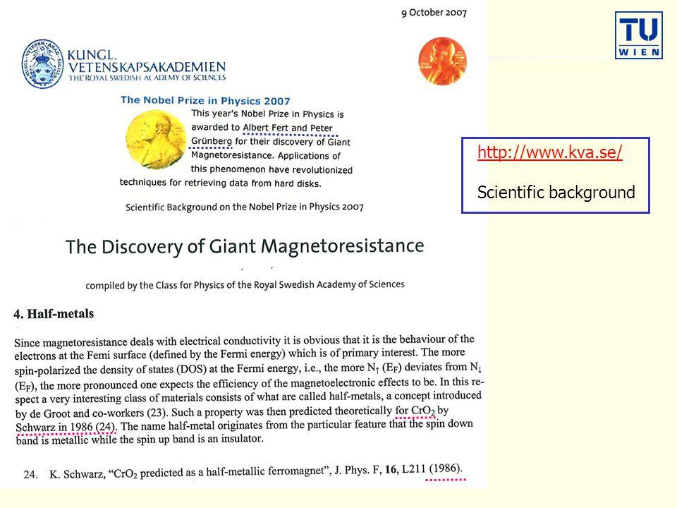 http://www.kva.se/ Scientific background