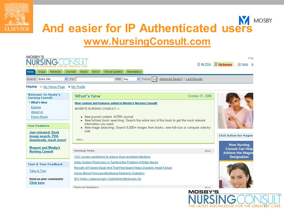 10 And easier for IP Authenticated users www.NursingConsult.com