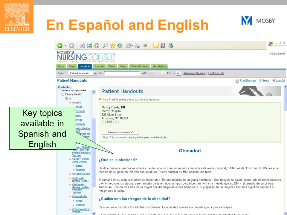 18 En Español and English Key topics available in Spanish and English