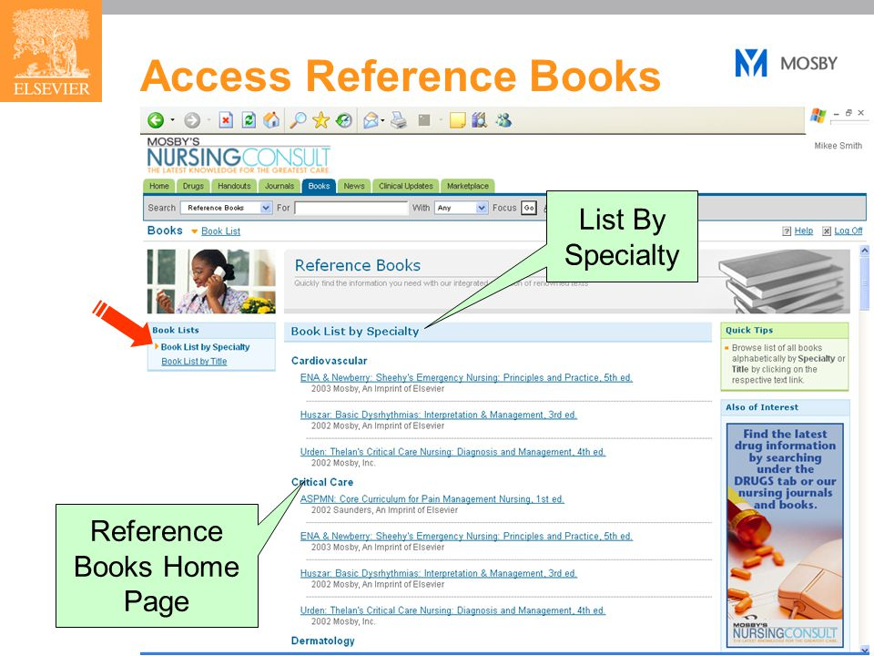 21 Access Reference Books Reference Books Home Page List By Specialty