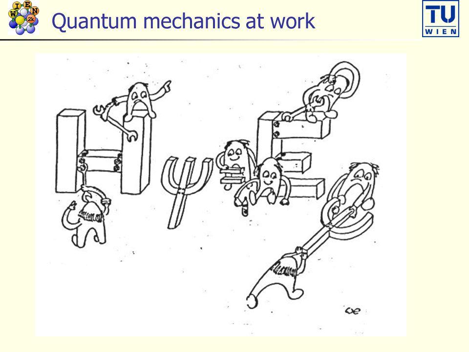 Quantum mechanics at work