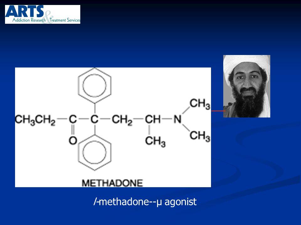 ___ l-methadone--µ agonist