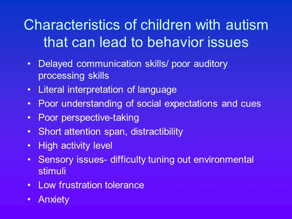 Behavioral intervention for stereotypies and repetitive behavior Functional assessment How interfering is the behavior.