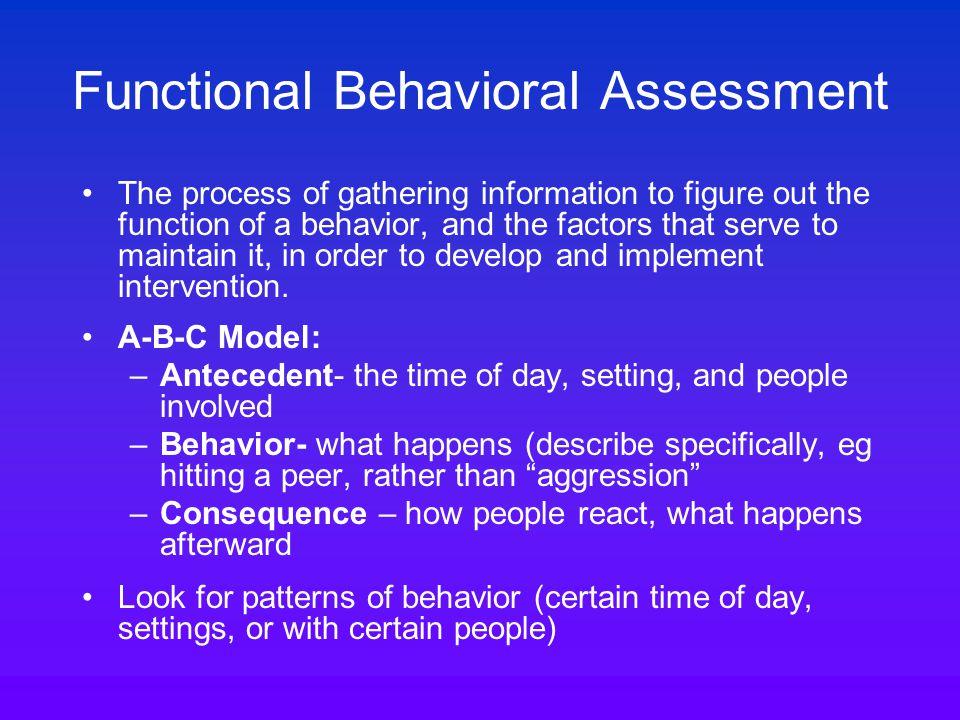 Intervention 3: Reinforcement Reinforce desired behavior : social reinforcement, sensory, activities, rewards, token systems Is a response (e.g.