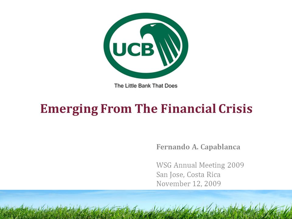 Emerging From The Financial Crisis Fernando A.