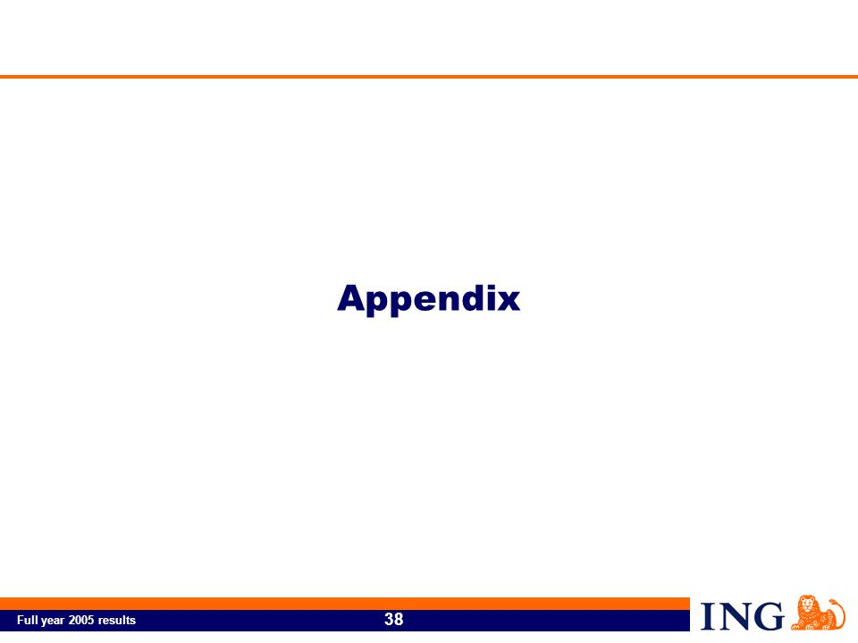Full year 2005 results 38 Appendix