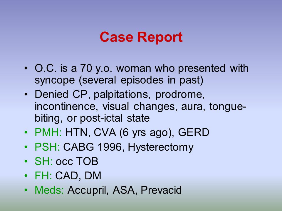 Case Report O.C. is a 70 y.o.
