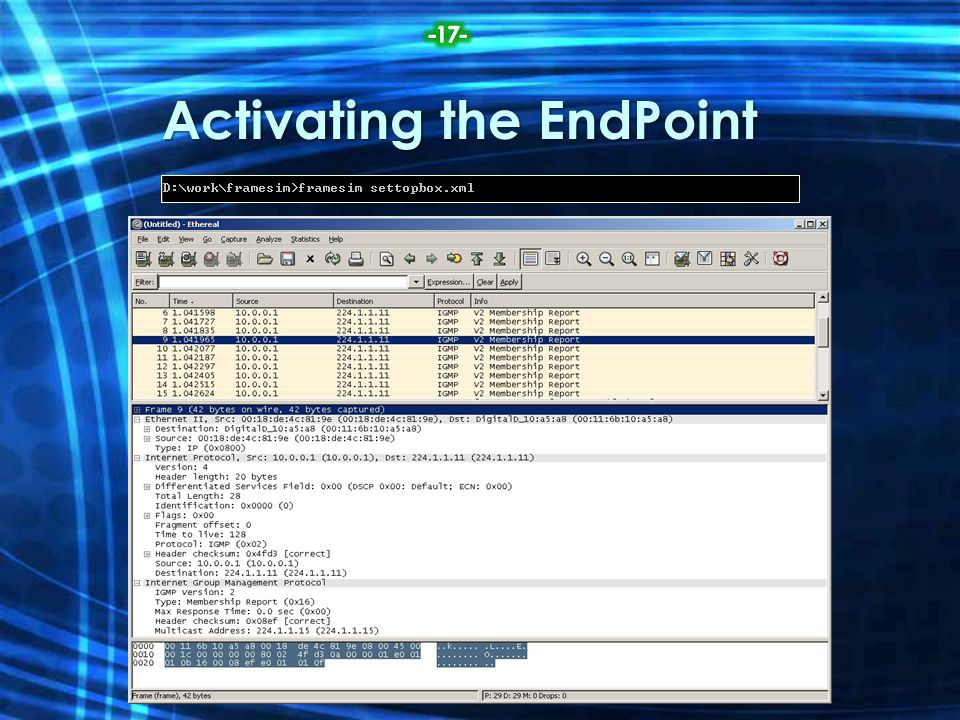 Activating the EndPoint