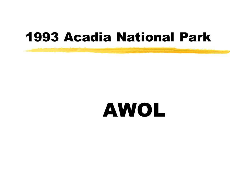 1993 Acadia National Park AWOL