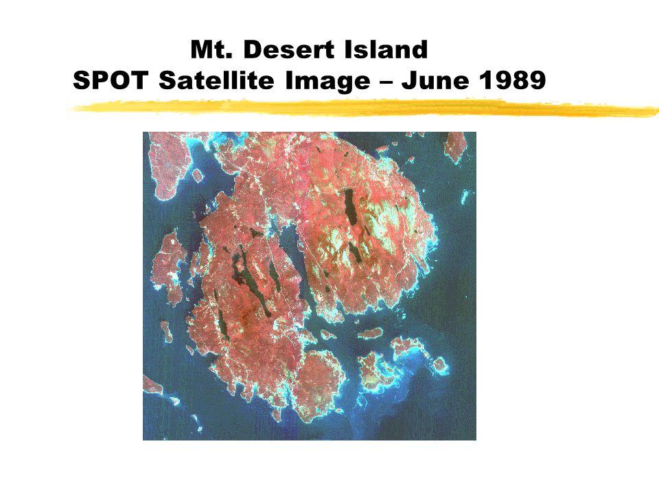Mt. Desert Island SPOT Satellite Image – June 1989