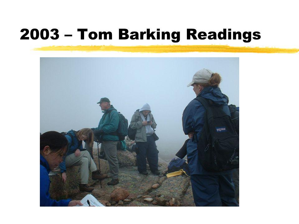 2003 – Tom Barking Readings