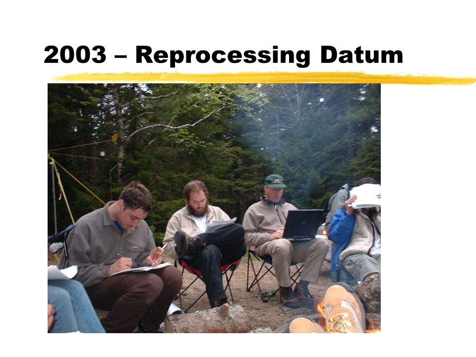 2003 – Reprocessing Datum