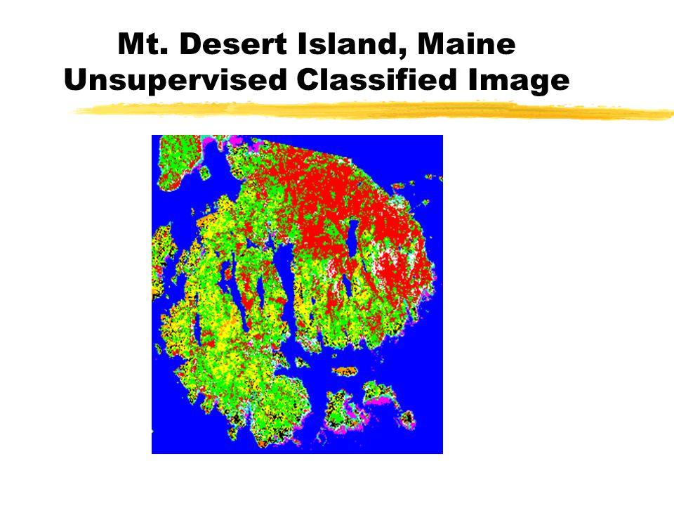 Mt. Desert Island, Maine Unsupervised Classified Image