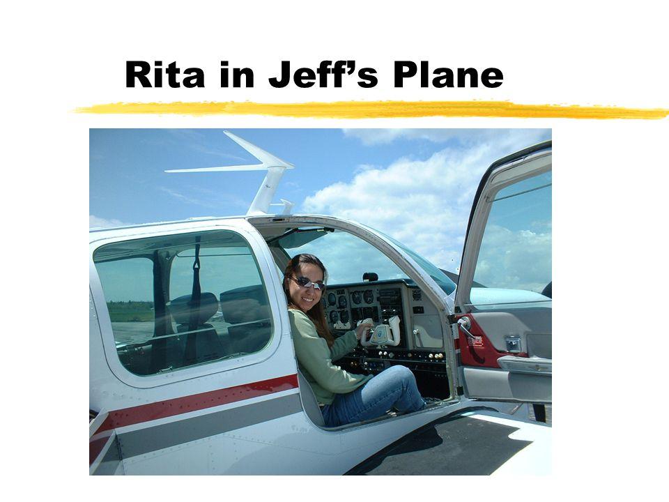 Rita in Jeff's Plane