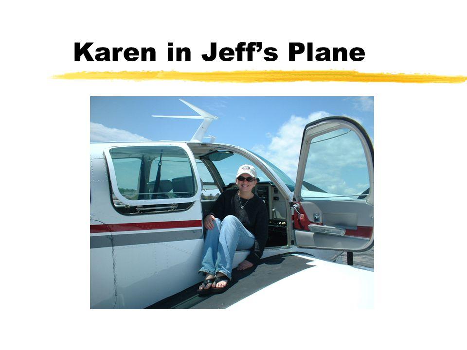 Karen in Jeff's Plane