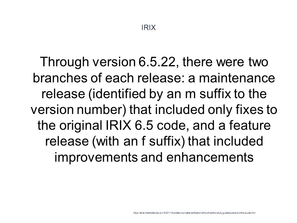 IRIX - Retirement 1 SGI announced the end of the MIPS/IRIX- based product line in a press release on 6 September 2006.