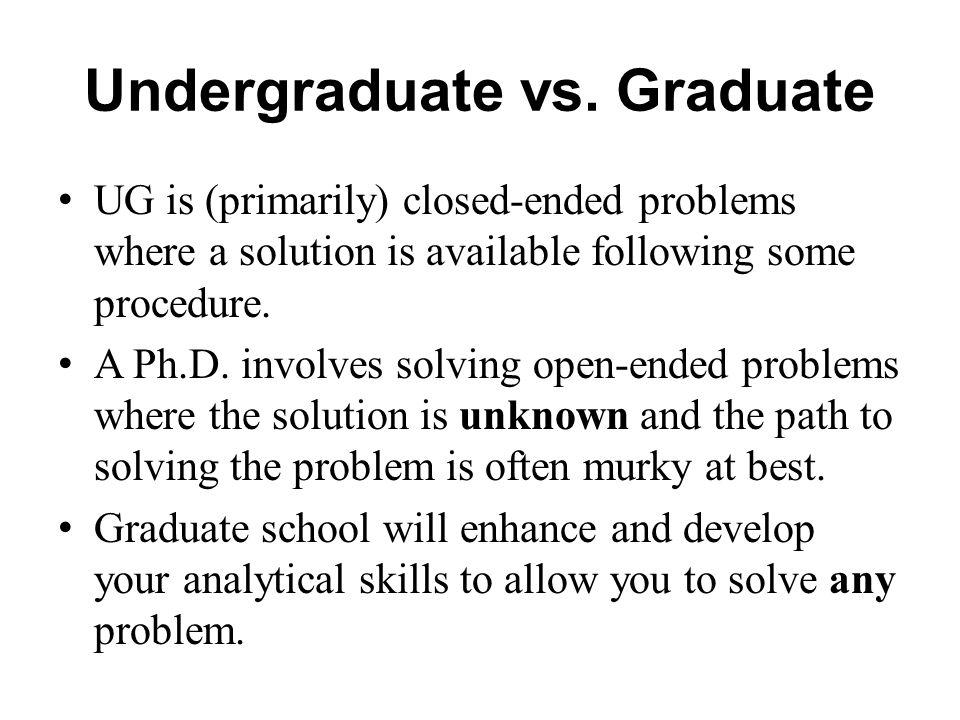 Undergraduate vs.