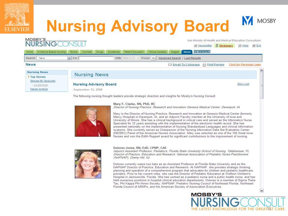 14 Nursing Advisory Board
