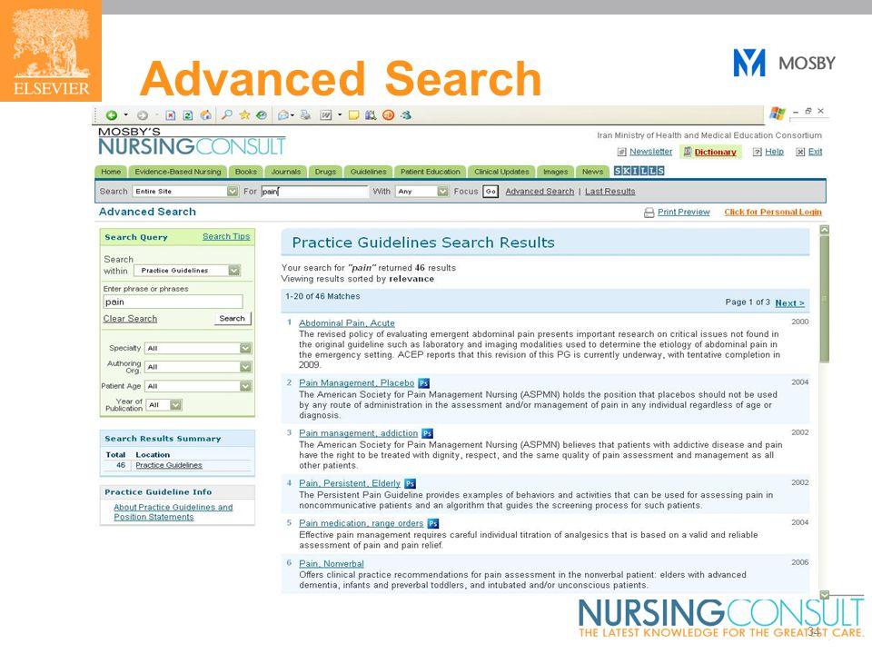 34 Advanced Search