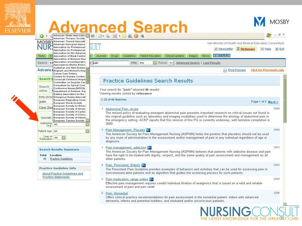36 Advanced Search