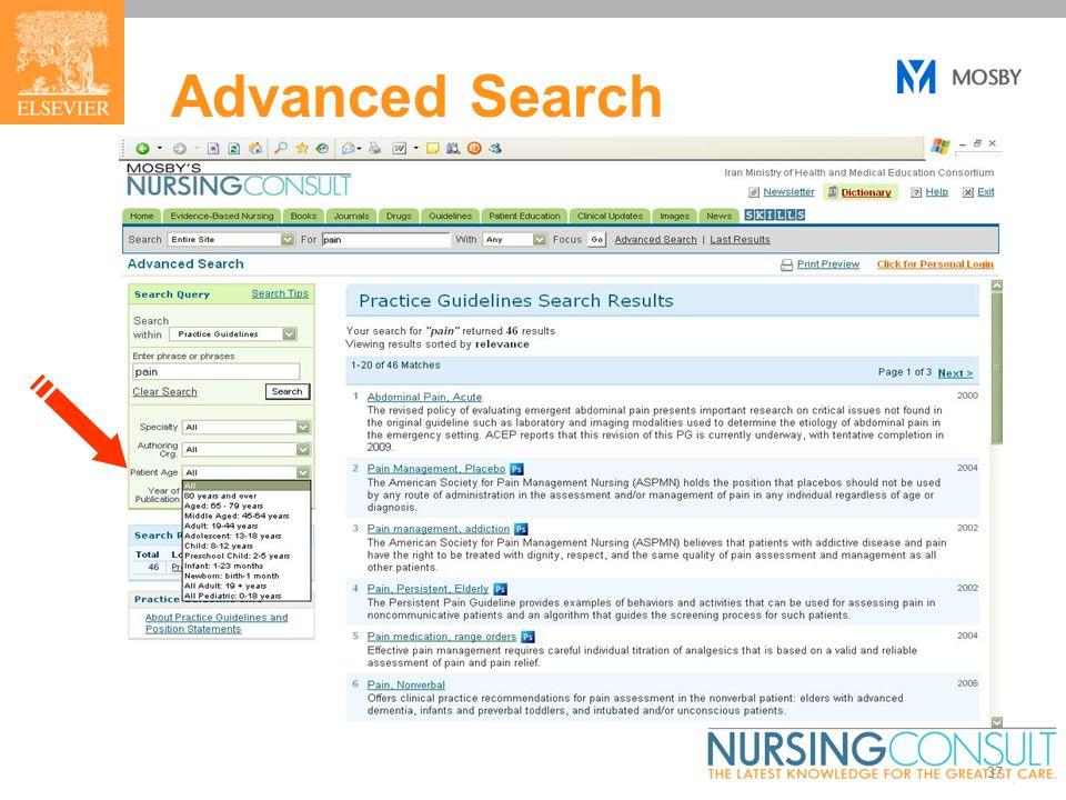 37 Advanced Search