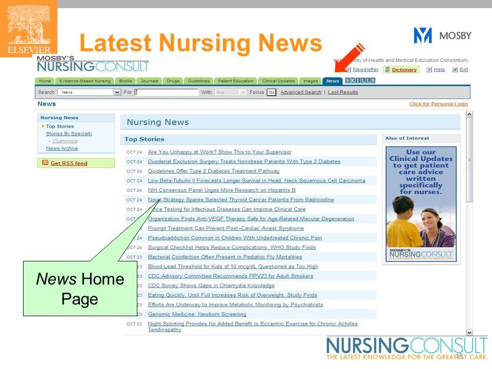 48 Latest Nursing News News Home Page