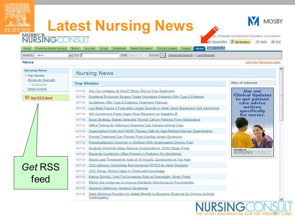 49 Latest Nursing News Get RSS feed