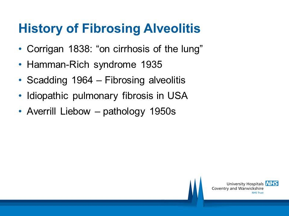 Associations of ILD Inorganic dusts (pneumoconiosis) Organic dusts (Hypersensitivity Pneumonitis) Drugs Rheumatological disease Idiopathic