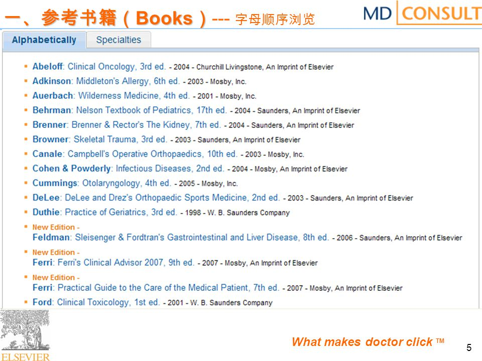 What makes doctor click TM 16 三、北美临床杂志( The Clinics ) 三、北美临床杂志( The Clinics ) --- 收录举例