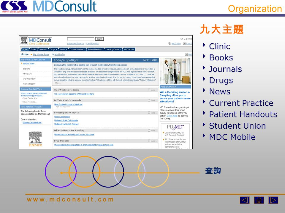 An integrated collection of renowned, up-to-date reference works Clinics w w w.