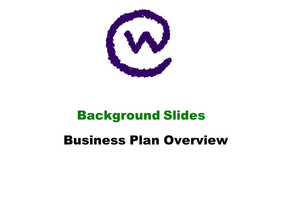 Background Slides Business Plan Overview