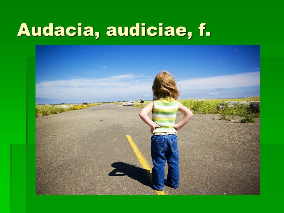 Audacia, audiciae, f.