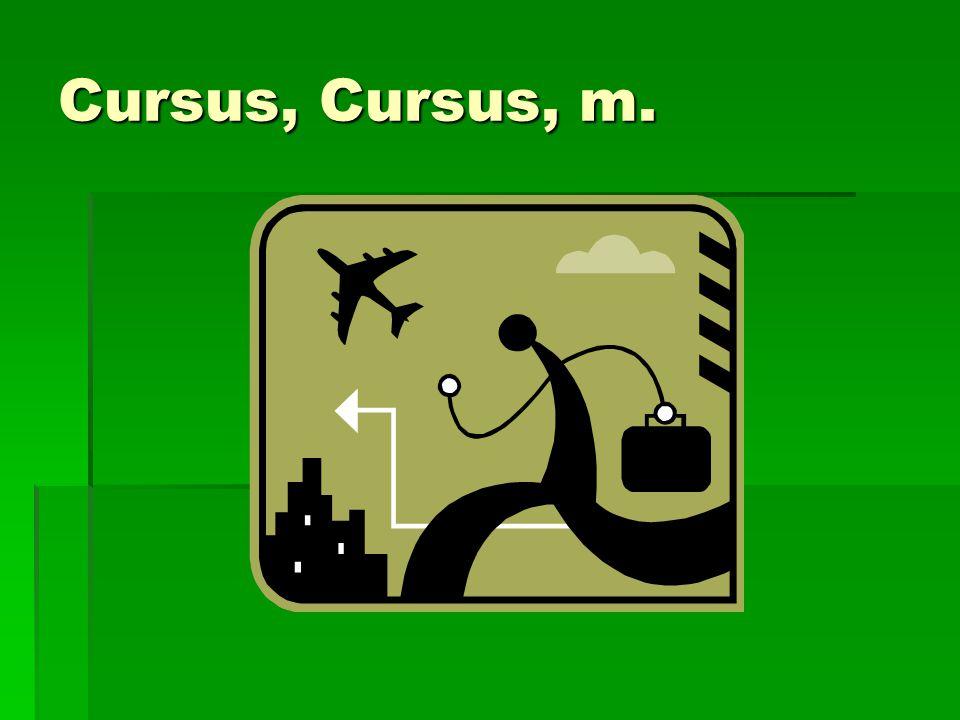Cursus, Cursus, m.
