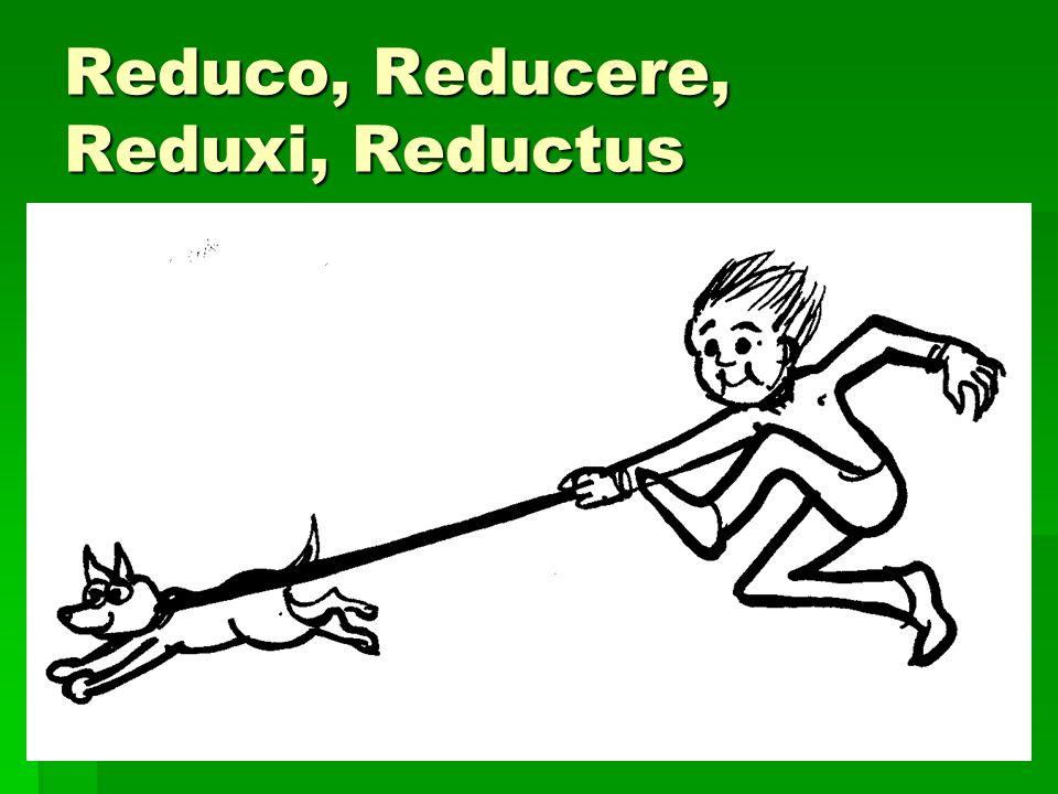 Reduco, Reducere, Reduxi, Reductus