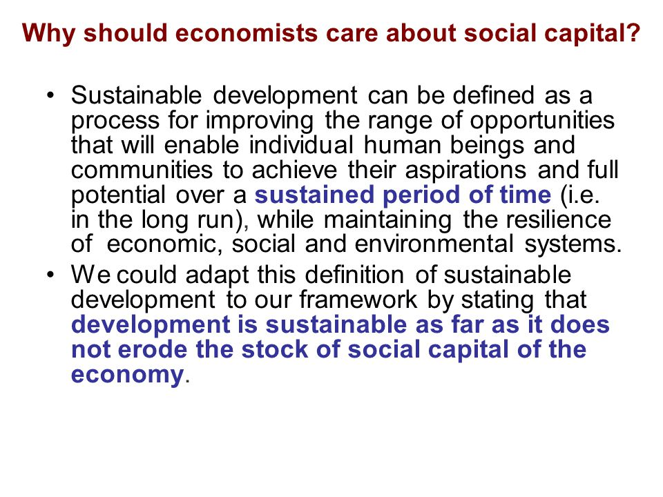 Bibliographical references on the relationship between social capital and economic growth are available at the url http://www.socialcapitalgateway.org/growthhttp://www.socialcapitalgateway.org/growth