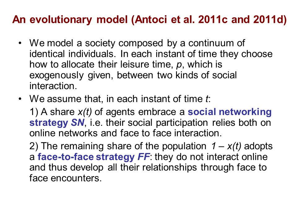 An evolutionary model (Antoci et al.