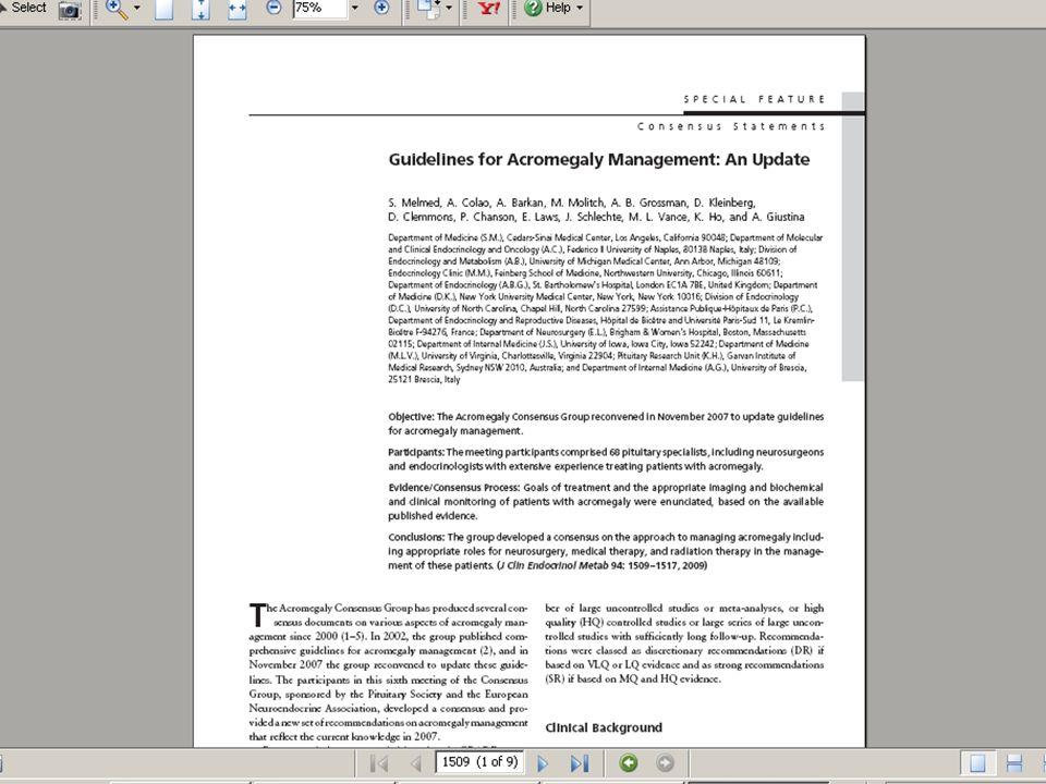 Guidelines 超過 1,000 份同儕評鑑 臨床診療指南 (Peer- Review Articles) 按照 3 種方式分類 : 專題的字母順序 專科別 授權機構 每篇全文文章均包括 書目資料及目錄