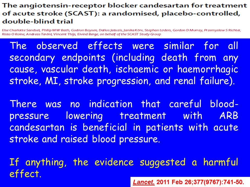Lancet.Lancet. 2011 Feb 26;377(9767):741-50. The observed effects were similar for all secondary endpoints (including death from any cause, vascular d