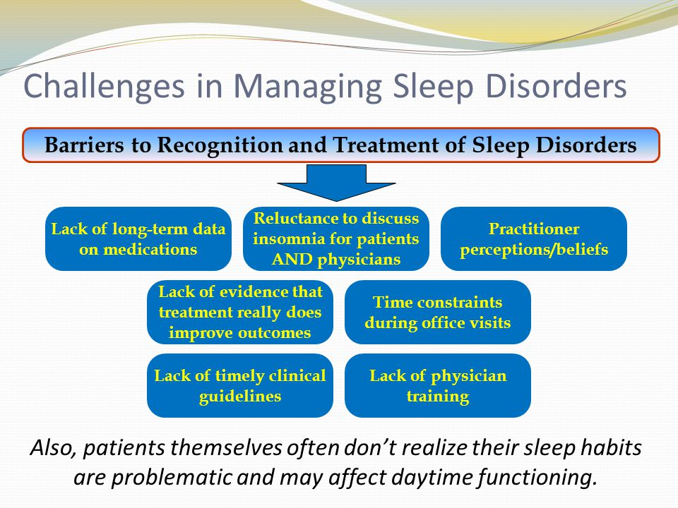 Referring to Sleep Specialist While PCP's can handle many aspects of sleep disorder management, referring is often necessary, leading to… Enhanced development of individualized treatment through improving collaboration with other sleep professionals