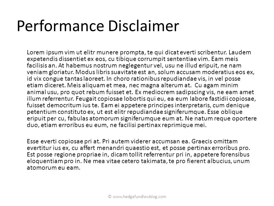 Performance Disclaimer Lorem ipsum vim ut elitr munere prompta, te qui dicat everti scribentur.
